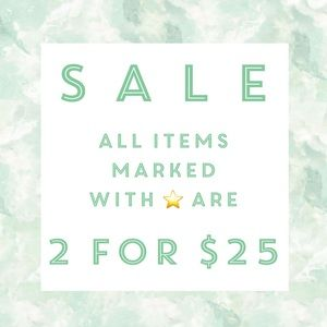 Bundle 2 Items With A ⭐️ for $25!